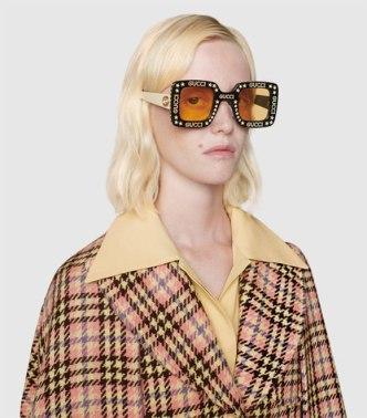 GG0780S-008 Occhiali da Sole Donna con Stelle e Brillanti