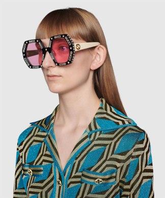 GG0772S-012 Occhiali da Sole Donna con Stelle e Brillanti