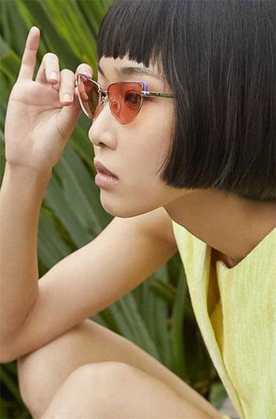 Polaroid colour cat eye sunglasses for women