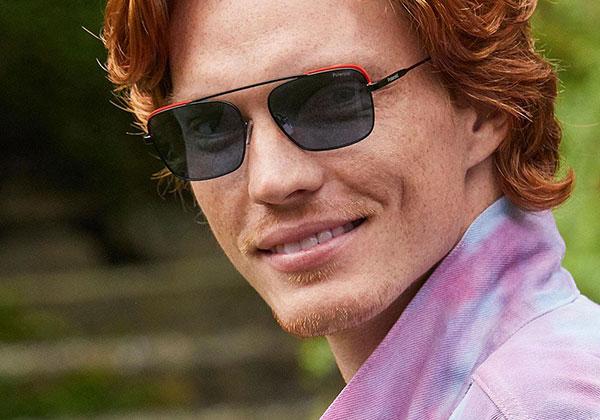 Polaroid colour square sunglasses for men