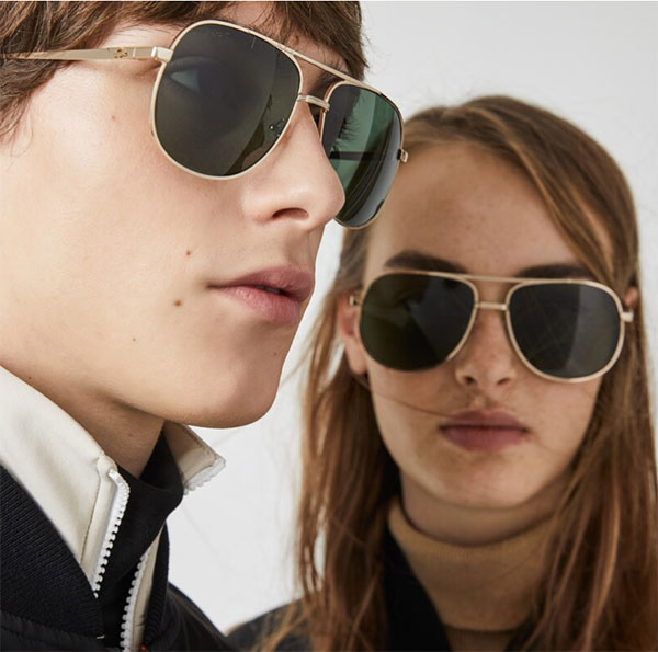 Lacoste Unisex gold and green vintage sunglasses