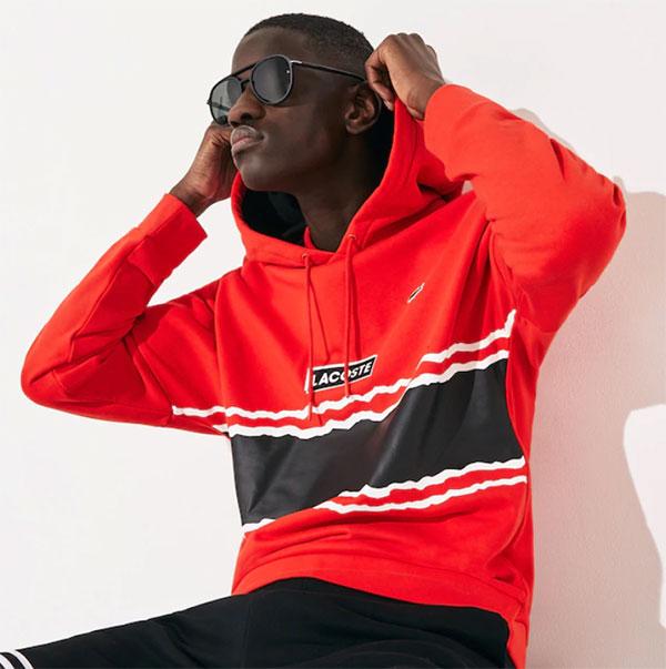 Lacoste Men Black Aviator Sunglasses