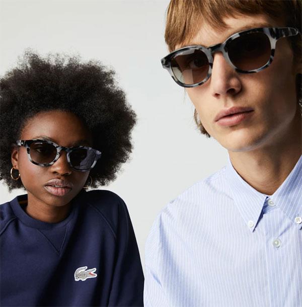 Lacoste Unisex havana grey Sunglasses