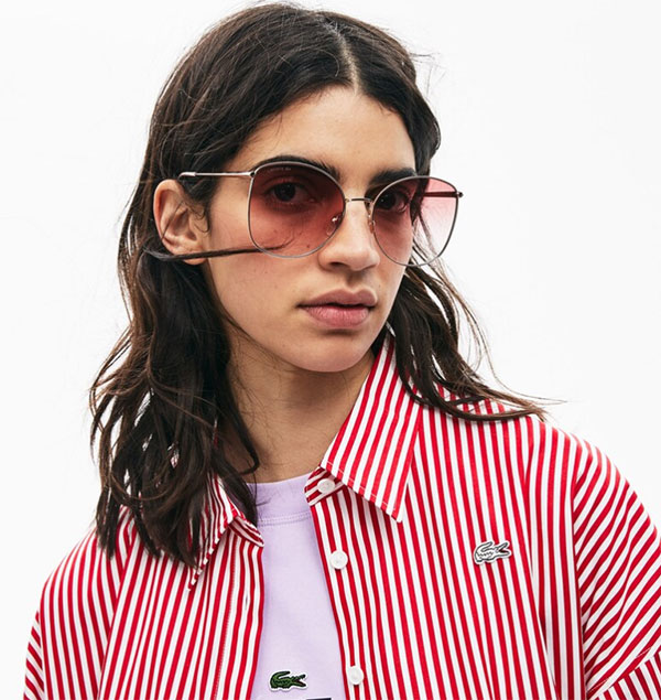 Lacoste Women pink and red sunglasses
