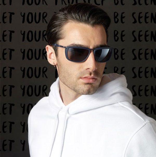 police rectangular sunglasses for men