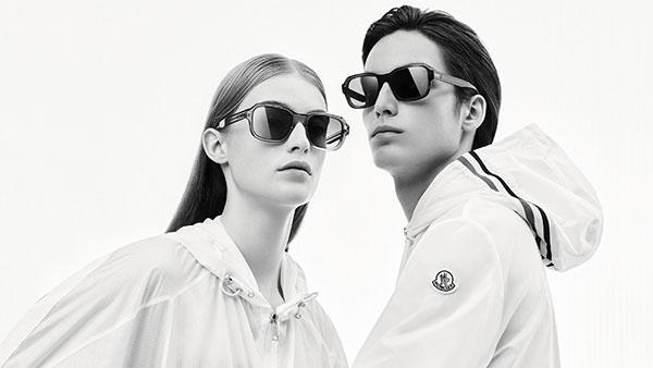 moncler gender neutral trasnparent frame sunglasses
